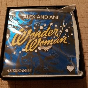Alex and ani wonder woman silver necklace